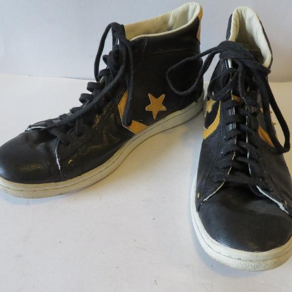 820cb8bedf6c ... clearance converse john varvatos black leather sneaker 8.5 f755e 10938
